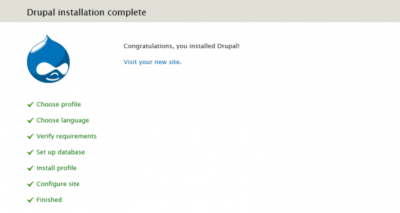 Congratulations, you installed Drupal!
