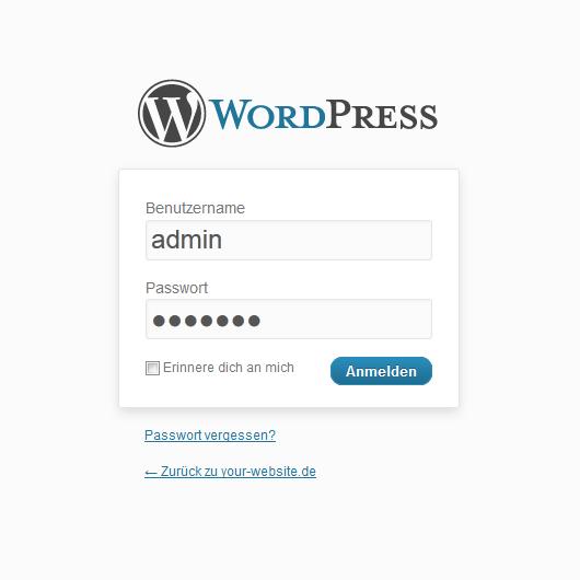 Wordpress Administratorpasswort zurücksetzen