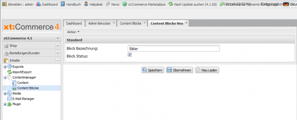 Content Block erstellen