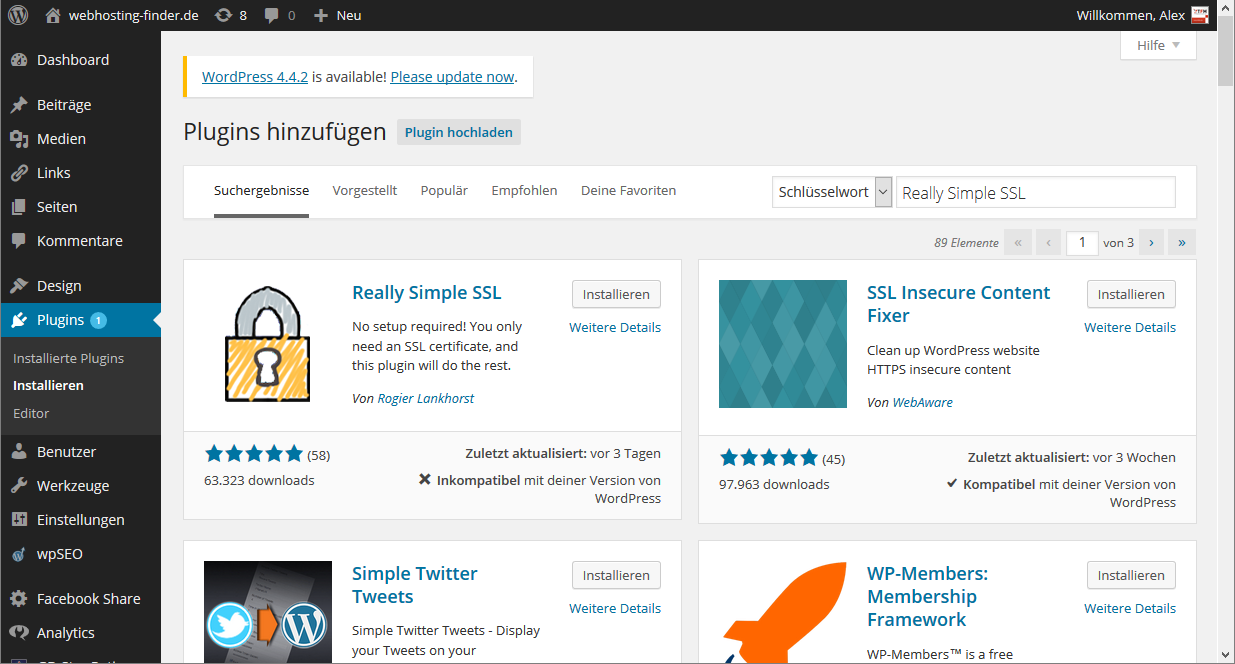 Wordpress Blog auf SSL (httpS) betreiben